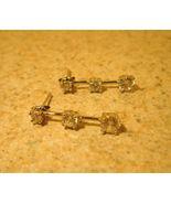 Earrings Silver CZ Pierced Beautiful and New #T129 - $15.99