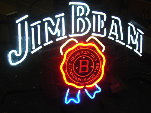 JIM BEAM Bud Light Beer Bar Jack Daniel`s Whisky Club DVD Lamp NEON Sign 17