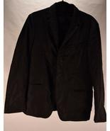 Prada Mens Nylon Button Down Jacket Blazer Black 50 Italy - $158.40
