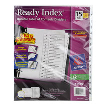 Avery Ready Index Durable Table of Contents Dividers, 15 Tabs, 3 Sets (1... - $12.05