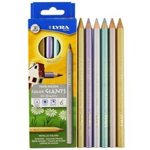 Lyra Color-Giants Unlacquered Colored Pencils, 6.25 Millimeter Cores, Se... - $37.99