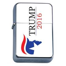 President Donald Trump 2016 D1 Windproof Refillable Flip Top Oil Lighter  - $9.84