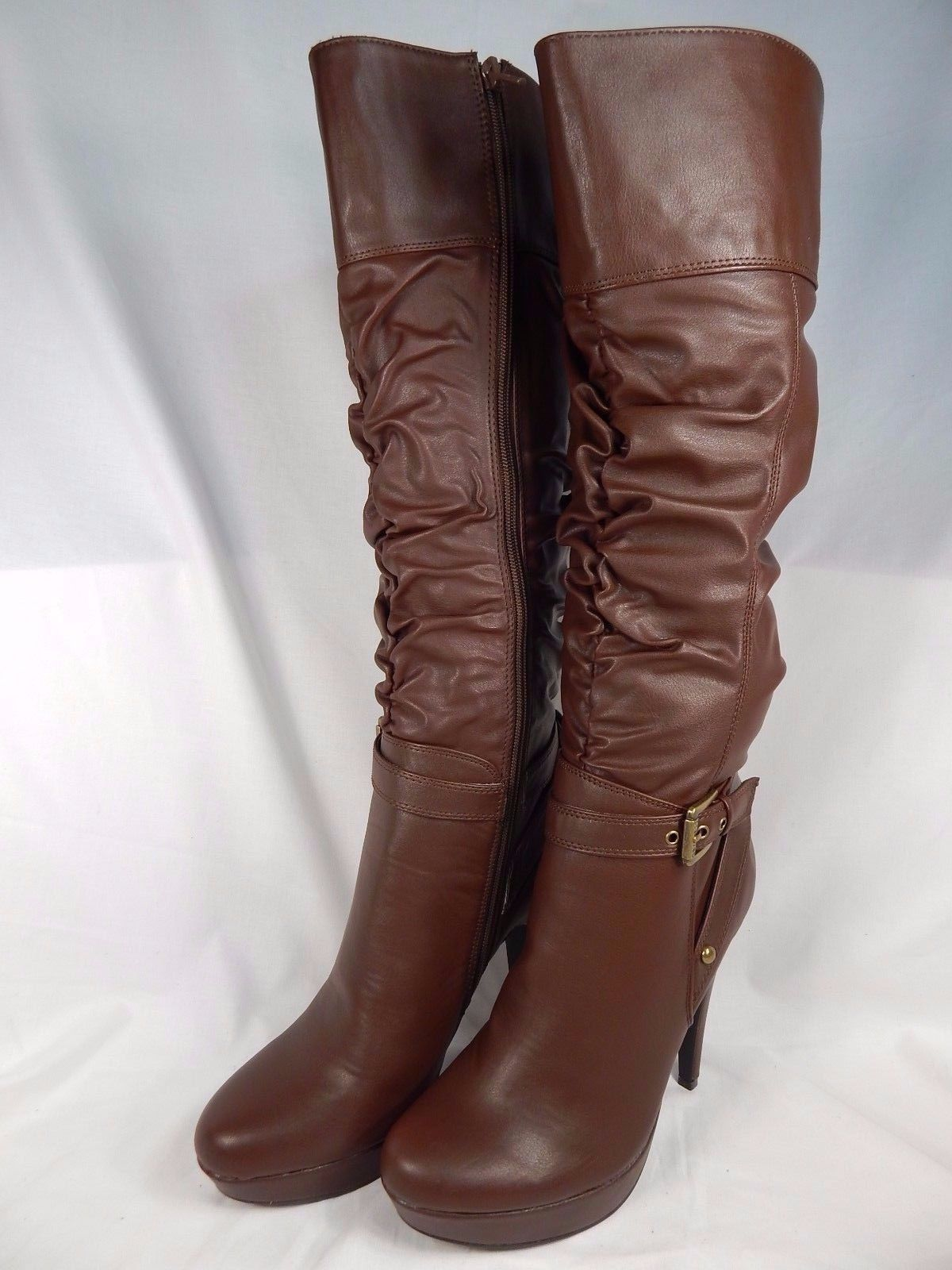 MISMATCH Guess Dorbii Knee High Boots Women's Size US RIGHT 9 WC LEFT 8 M Brown