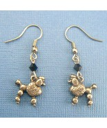 Poodle Dog Earrings - Silver Pewter - $9.95