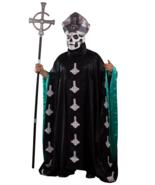 Trick Or Treat Ghost Papa Emeritus II Metal Adult Robe Halloween Costume... - £58.03 GBP