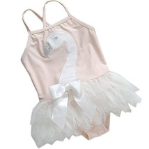 Cute Baby Girls Beautiful Swan Beach Suit Lovely Swimsuit 0-2 Years Old(75-85cm)
