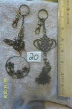 purse jewlrey bronze color keychain backpack filigree charms lot of  2 f... - $12.59