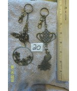 purse jewlrey bronze color keychain backpack filigree charms lot of  2 f... - $12.59