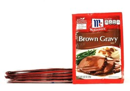 6 Packs McCormick 0.87 Oz Brown Gravy Mix With Spices No MSG BB 10/7/21 - $19.99