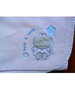 Just Born Make A Wish Bear Star Balloon Pink Baby Blanket - $14.67