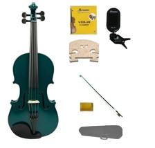 3/4 Size Green Violin,Case,Green Bow+Rosin+2 Sets Strings+2 Bridges+Tuner - $54.00