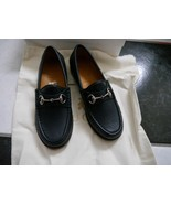 NIB 100% AUTH Gucci kids horsebit loafer in navy blue leather - $148.00