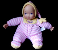 Madame Alexander Soft Body My First 1st Baby Doll Pink Stripe Vinyl Hand Face - $17.21