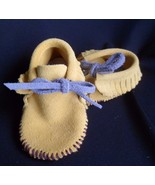 Leather BABY MOCCASINS SOFT SOLE SHOES Size 2 - $29.35
