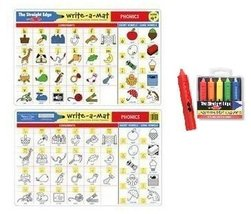 Melissa & Doug Phonics Learning Place Mat with Wipe-Off Crayons - $9.85