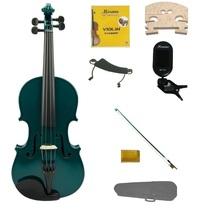 1/8 Size Green Violin,Case,Green Bow+Rosin+Strings+2 Bridges+Tuner+Shoulder Rest - $59.99