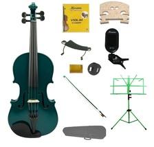 1/4 Green Violin,Case,Green Bow+Rosin+2Bridges+Tuner+Shoulder Rest+Stand+Mute - $83.99