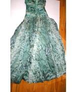 New 38 Carlos Miele Womens 4 Silk Runway Gown Dress Strapless Silk Green... - $2,497.50