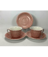 ROYAL CROWNFORD STAFFORDSHIRE Country Chintz PINK 2 Coffee Cups / 3 Saucers - $19.79
