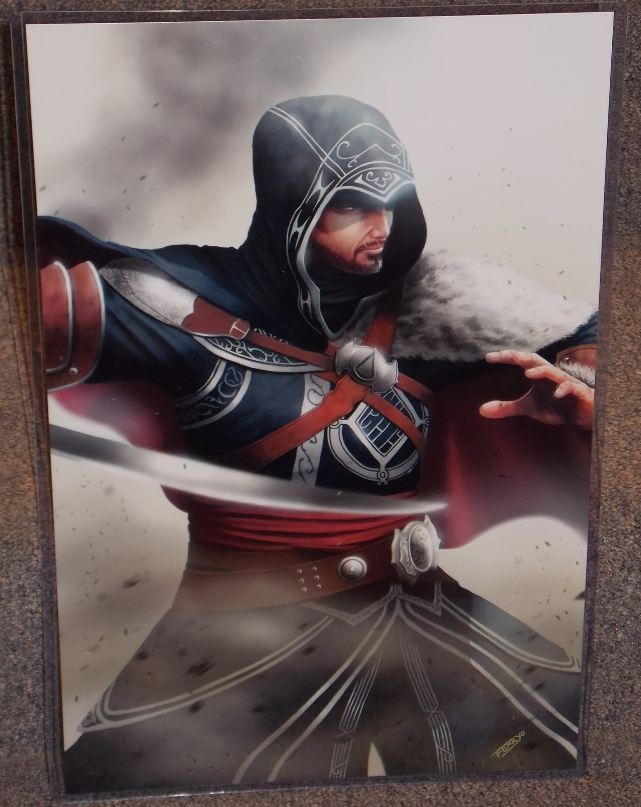 Assassins Creed Ezio Glossy Art Print 11 x 17 In Hard Plastic Sleeve