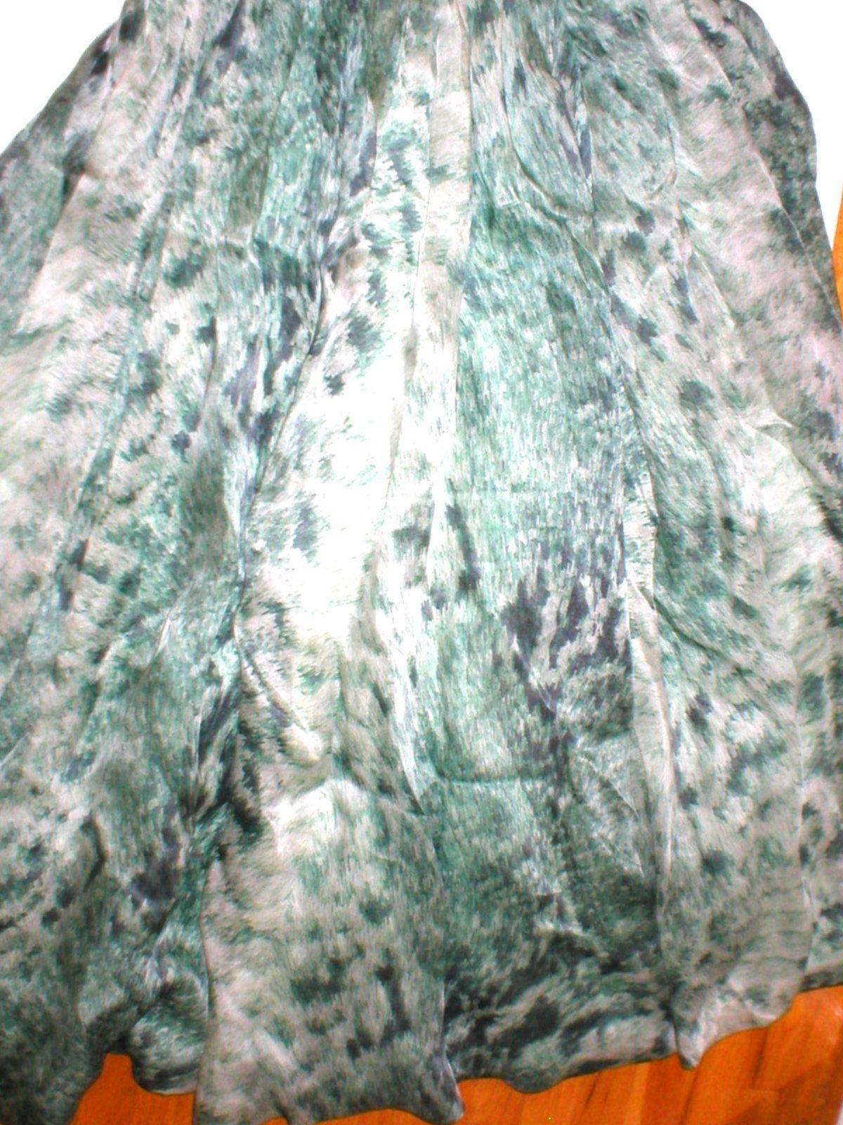 New 38 Carlos Miele Womens 4 Silk Runway Gown Dress Strapless Silk Green Snake image 3
