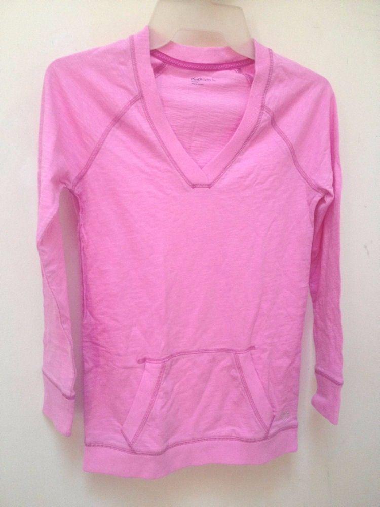 New Gap Kids L 10 Top Pink Long Sleeve Kangaroo Pockets Back to School