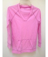 New Gap Kids L 10 Top Pink Long Sleeve Kangaroo Pockets Back to School - $11.73