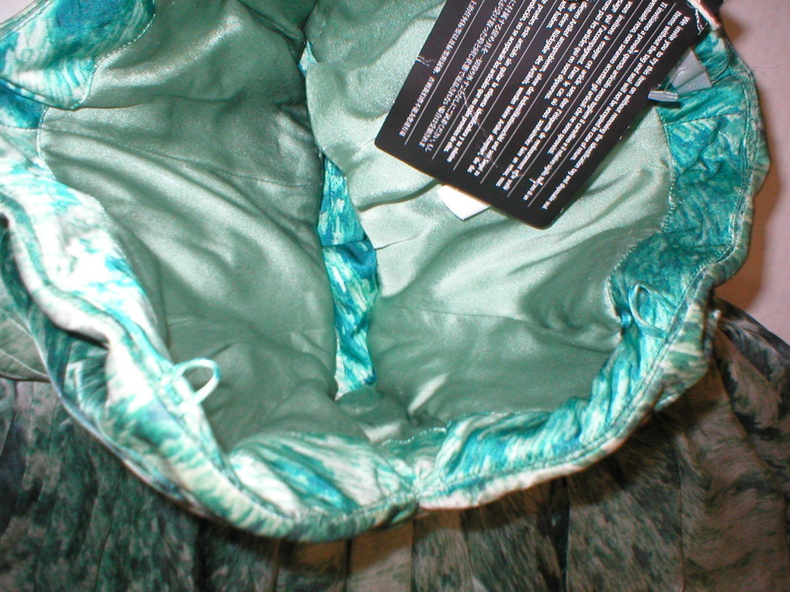 New 38 Carlos Miele Womens 4 Silk Runway Gown Dress Strapless Silk Green Snake image 5