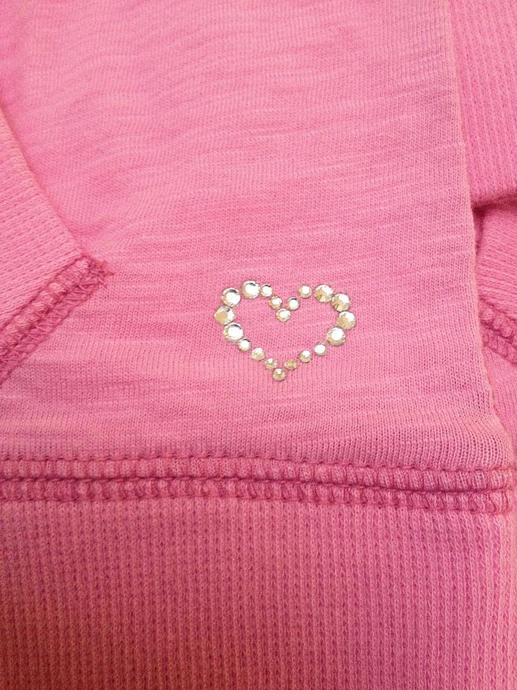 New Gap Kids L 10 Top Pink Long Sleeve Kangaroo Pockets Back to School image 3