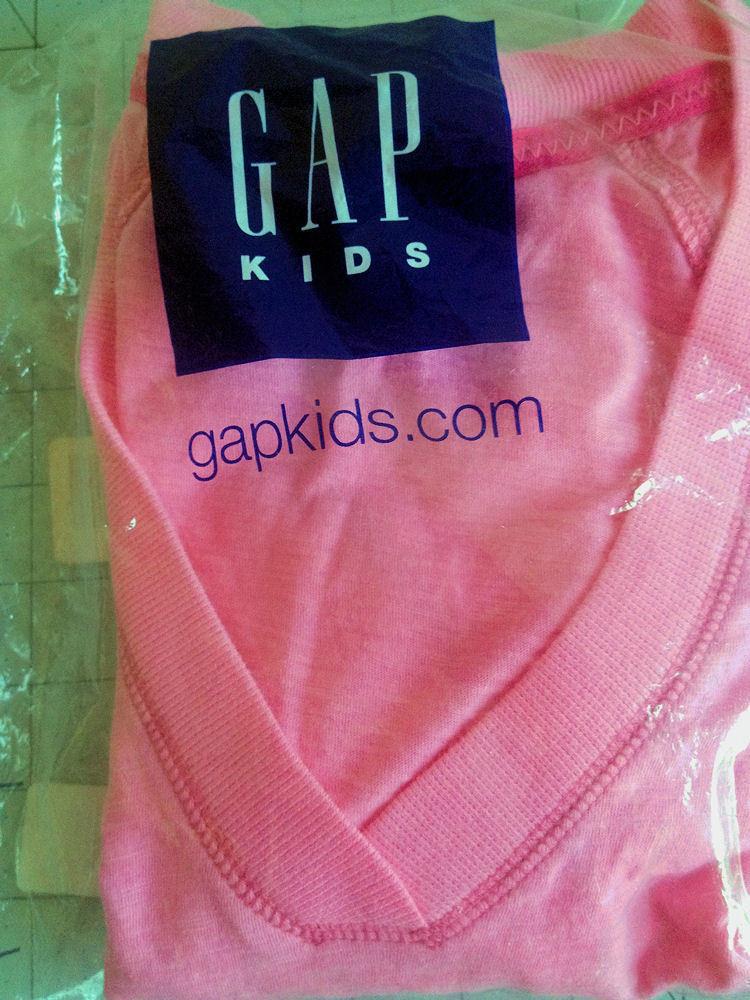 New Gap Kids L 10 Top Pink Long Sleeve Kangaroo Pockets Back to School image 4