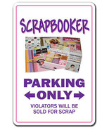 SCRAPBOOKER Sign parking scrapbook tool kit paper hobbie hobby scrapbook... - $7.11