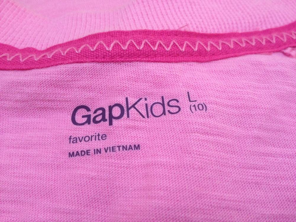 New Gap Kids L 10 Top Pink Long Sleeve Kangaroo Pockets Back to School image 5