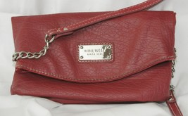 Nine West Ladies Fold Over Clutch Cross Body Messenger Bag Purse - Brick - $18.36