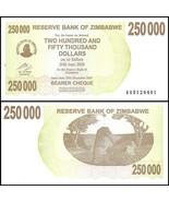 Zimbabwe 250,000 (250000) Dollars Bearer Cheque, 2007, P-50, UNC - £5.23 GBP