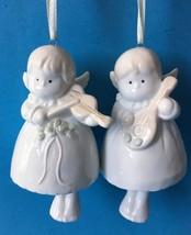 2 Kurt Adler Angel Bell Christmas Ornaments Santas World - $14.95