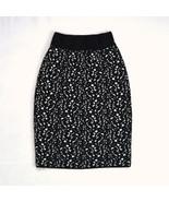 Vtg FABRICE KAREL Made in FRANCE Black White Speckled Wool Knit Pencil S... - $24.74
