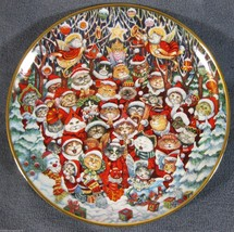 SANTA CLAWS Collector Plate Christmas Cats Bill Bell Franklin Mint Porce... - $17.99