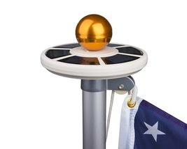 Upgraded LED Solar Power For Flagpole Brightest Light Long Lasting Save Electric - $46.52