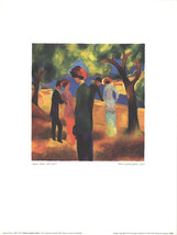 August Macke-Lady in Green Jacket-Poster - $39.27