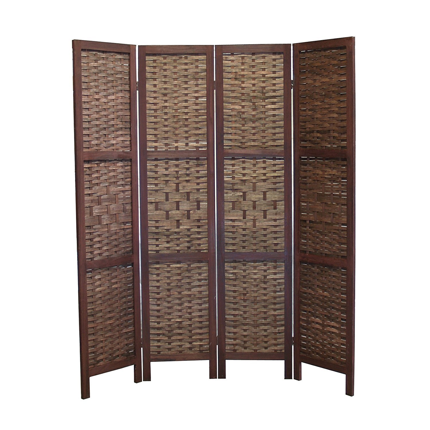 4 Panel Room Divider Folding Bamboo Indoor Furniture Screen Partition Home Decor