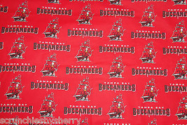 Tampa Bay Buccaneers Red Fabric Hair Scrunchie Scrunchies by Sherry NFL   - $6.99