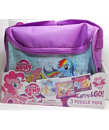 My Little Pony Carry & Go 3 puzzle pack and car... - $9.95