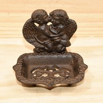 Cast Iron Angel Soap Dish Rustic Brown Antique ... - $15.83