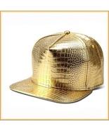 Unisex Hip Gold or Silver Embossed PU Leather Gator Skin Adjustable Bal... - $32.95