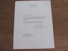 HARRY TRUMAN 33ST US PRESIDENT SIGNED AUTO LETTER 1967 JULY 25TH JSA LOA - $395.99