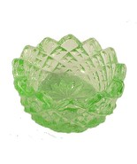 Sawtooth Depression Green Glass Open Salt Dip C... - $10.00