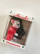 "Annalee Mobilitee Christmas Ornament 3"" Caroller Mouse  - $14.95"