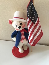 "Annalee Mobilitee Patriotic 4th of July White Bear 10"" - €17,09 EUR"