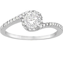 HALO SETTING! 3.08 CT ROUND CUT CENTER PAVE DIAMOND ENGAGEMENT RING F SI3 - $8,612.00
