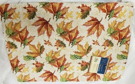"Set of 3 Same Tapestry Placemats, 13""x18"", SPARKLING COLORFUL LEAVES & A... - $16.82"
